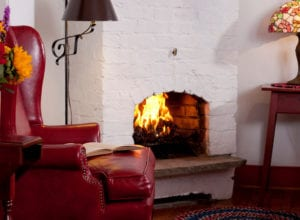 Red Room fireplace