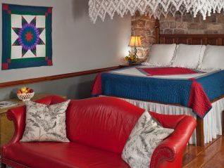 Crimson Dove Suite bed
