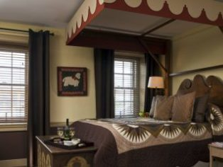 chocolate room bed