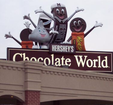 Hershey Factory Tour Entrance