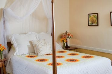 Yellow Room bed view - Romantic Things to Do in Lancaster, PA