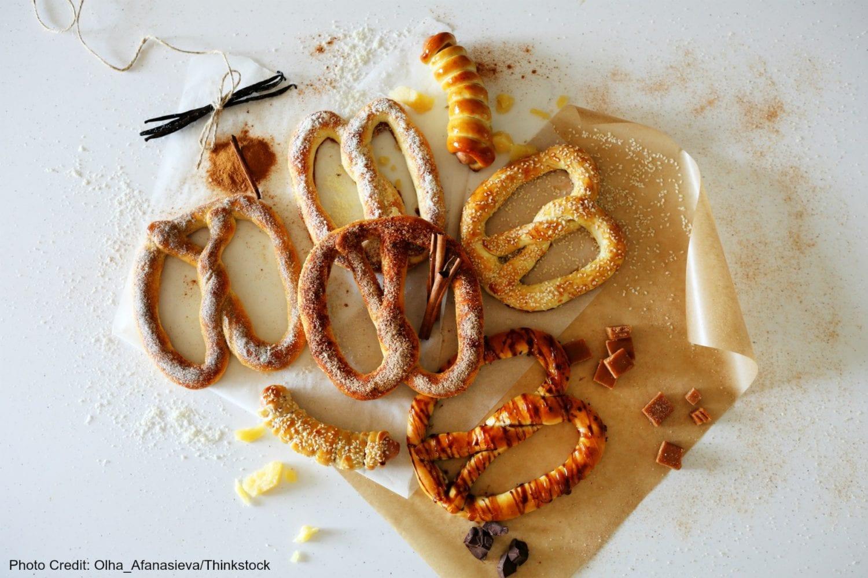 Delicious soft pretzels