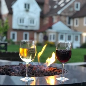 wine and fire pit